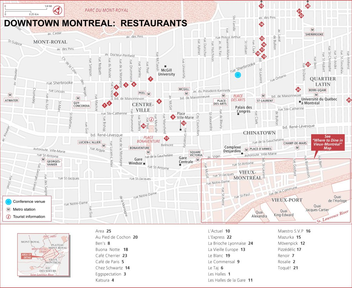Venue and travel info TIME 2008 – Montreal Tourist Attractions Map